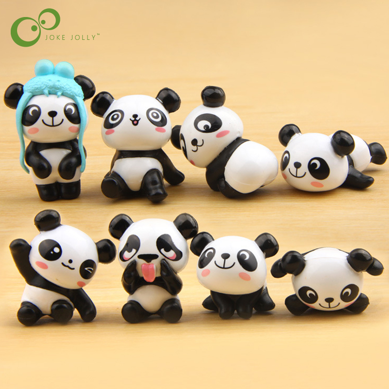 Mini PVC Panda-Action Adult Toys Model-Toy Dolls Animals for Kid GYH 8pcs/Lot Landscape