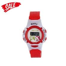 Muchachos Muchachos Práctico Animal Lindo Patrón Estudiante LED Reloj Digital Electrónico reloj deportivo inteligente simple niños inteligentes reloj