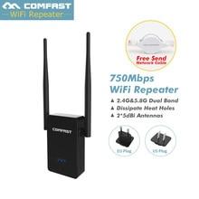 COMFAST CF-WR750AC двухдиапазонный 750 м репитер-удлинитель WiFi 2,4G/5,8G 802.11AC Беспроводной Wi-fi ретранслятор усилитель сигнала маршрутизатор