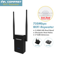 COMFAST CF WR750AC Dual Band 750M WIFI Extender Repeater 2.4G/5.8G 802.11AC Wireless Wi fi WI FI repeater signa amplifier Router