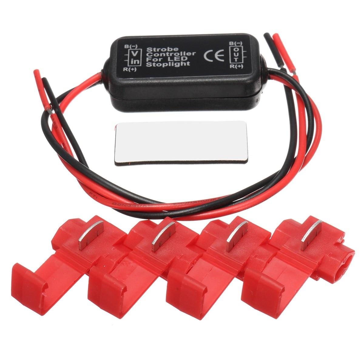 KROAK 20W LED Brake Stop Flash Strobe Light Controller Flasher Module Controller Box For Car Truck Light