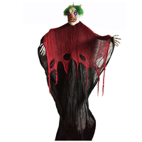 7 Feet 210cm Hanging Clown Ghost for Haunted House Escape Horror Halloween Party Indoor and Outdoor Halloween Decoration