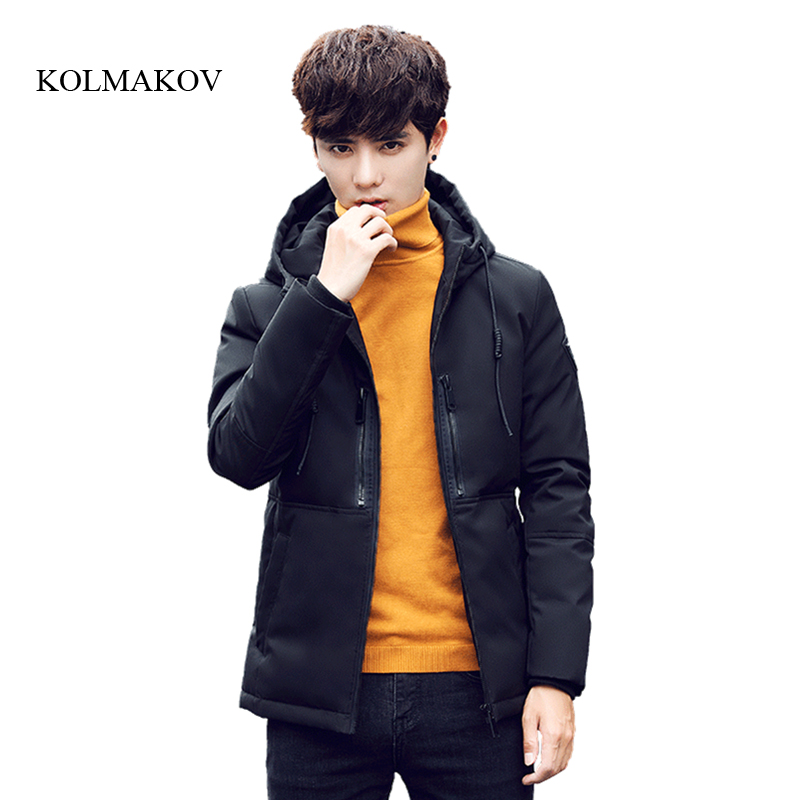 2017 new arrival winter style men short boutique down coat high quality fashion 90% white duck solid men hooded down coat M-3XL