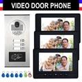 2/3/4 unidades apartamento sistema de intercomunicación de vídeo intercomunicador Video de la puerta teléfono Video de la puerta Kit HD Cámara Monitor de 7