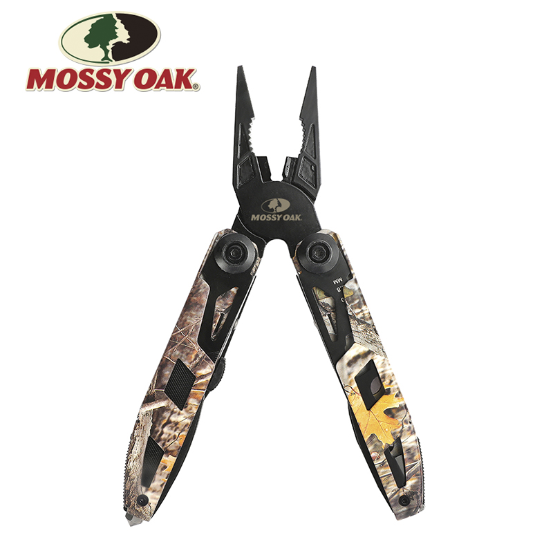MOSSY OAK 21 in 1 Multi Tool Set Outdoor Survival Portable Folding Pocket Multitool Knife Plier Screwdriver Camping Tool Kit mini folding knife stainless steel survival knife wrench screwdriver bit kit 9 in 1 for crimping hunting multi tool