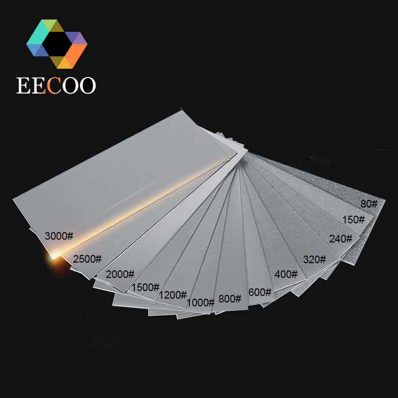 EECOO 80-3000 Grit Professional Thin Diamond Knife Sharpening Whetstones Polishing Knife Sharpener Plate Grinding Abrasive Stone