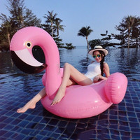 Women Swimming Float Swan Tube Raft Pool Swimming Rings Flamingo Inflatable Summer Adult summer holiday Swimming fun