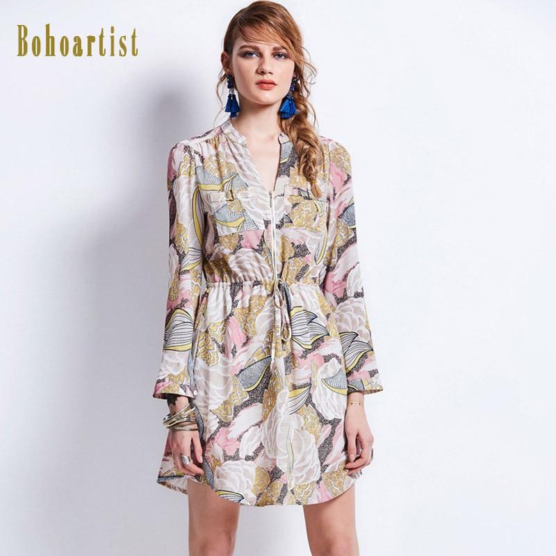 Bohoartist 2017 Autumn Dresses Fashion Retro Long Sleeve