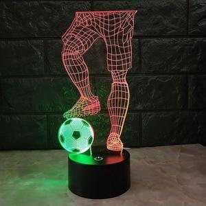 Image 5 - 3D サッカータッチテーブルランプ 7 色の変更デスクランプ usb 電源ナイトランプサッカー led ライト寝室の装飾のギフト