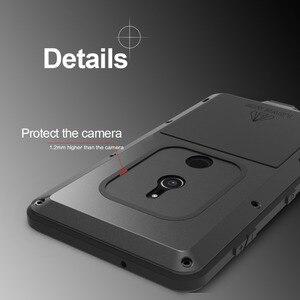 Image 2 - Feitenn Heavy Duty Protection etui na telefon do Sony XZ2 Armor metalowe szkło hartowane telefon silikonowy zderzak odporny na wstrząsy aluminiowa osłona