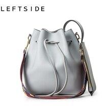 LEFTSIDE 2017 Mode Berühmte Marke Damen Eimer Tasche Mit Farben schultergurt Und Eine Kleine Tasche Frauen Umhängetaschen Handtaschen