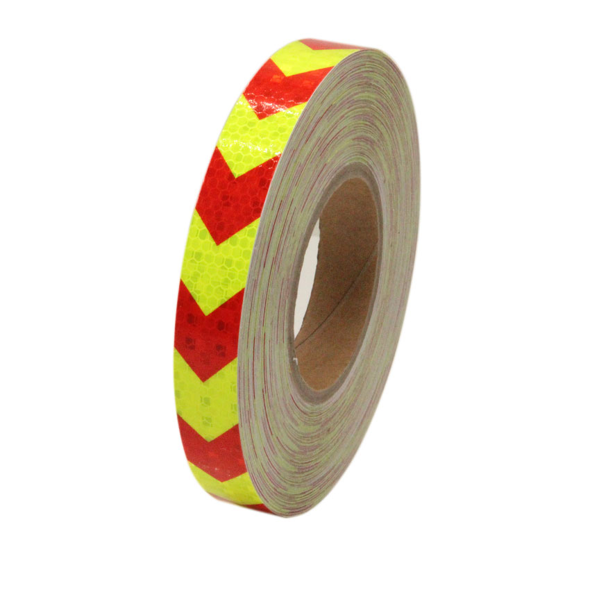 2.5CMx3M Stickers Arrow Reflective Truck Trailer Safety Warning Signs Adhesive Strips for Cars Bicycle Motorcycle Arrows