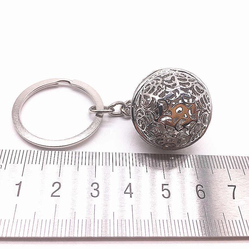 Новая мода тусклый серебряный маленький колокольчик-брелок DIY металлическая цепь автомобильные Брелки Подвеска для ключей