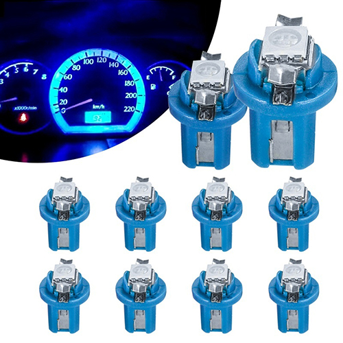 10x B8 5D Gauge LED Car Dashboard Bulbs Width Lamp Panel Light Indicator Lamp