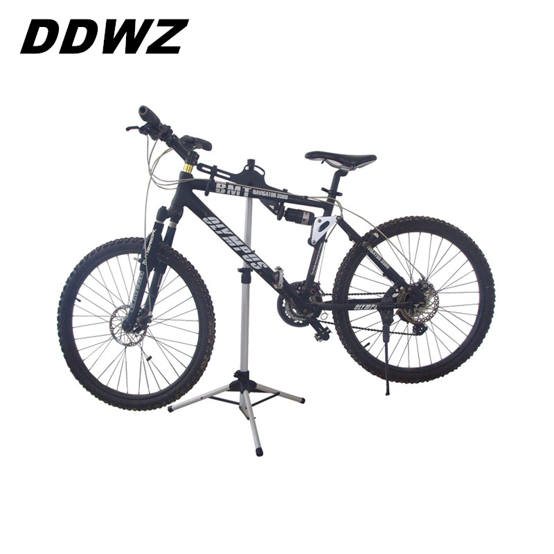 Adjustable  Bike Repair  Stand Parking 70-132CM  Aluminum Alloy Mountain Bicycle Accessories Portable Foldable Outdoor mountain bike repair stand kickstand wings kickstand road bicycle aluminum alloy rack bike repair tool accessories parking