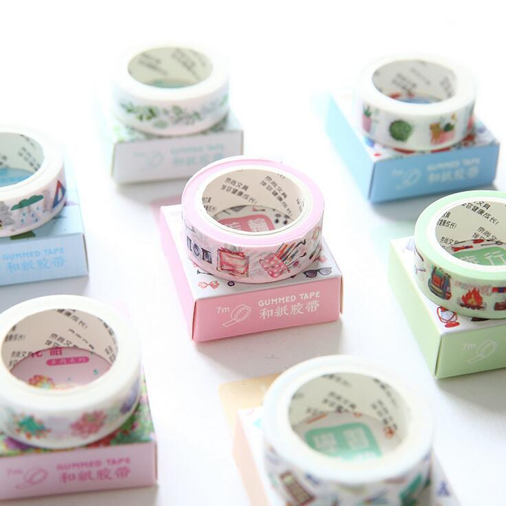 Travel Diary Succulent Plants Washi Tape Adhesive Tape DIY Scrapbooking Sticker Label Masking Craft Tape