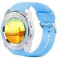 Fuster V8 Круг экран smart watch поддержка TF карт Micro Sim смарт часы носимых устройств для Android и IOS часы
