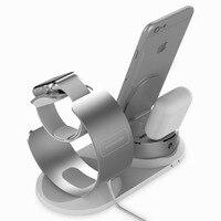 Adjustable Desk top phone Holder For Apple watch stand pop socket table Charging Dock Station base for iPhone 8 Charger support