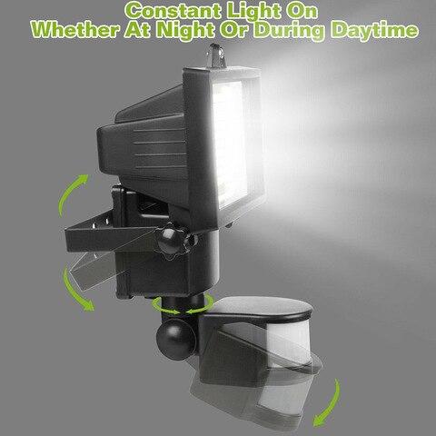 solar com pir detector de sensor movimento