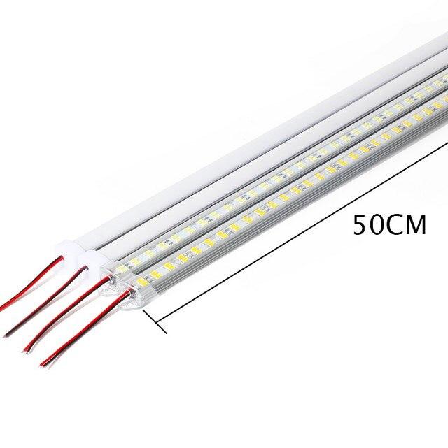 DC12V 5730 barre de LED lumière Double rangée puce 72 Leds haute luminosité pour armoires de cuisine lumière rétro-éclairage décoration