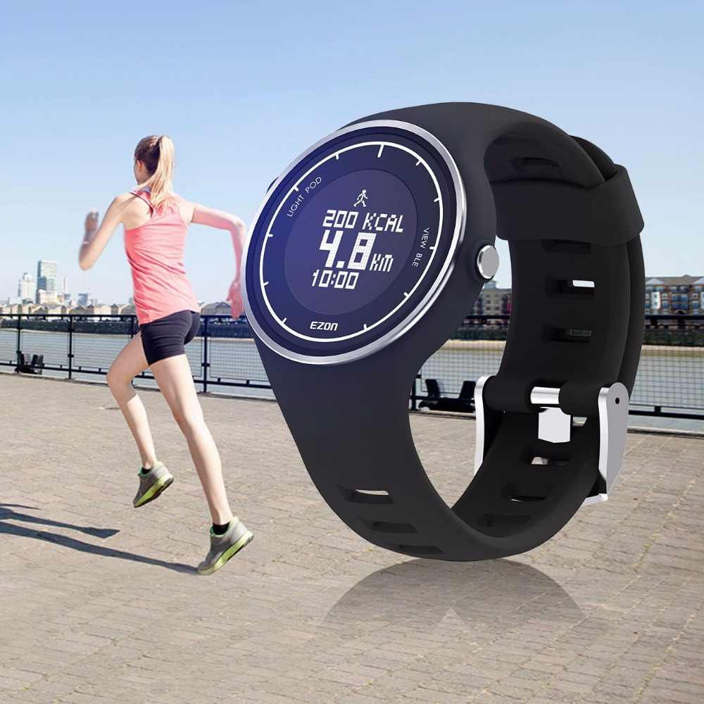 EZON  Brand New S1 Smart Bluetooth Watch Pedometer Calorie Counter Running Wristwatch Sports Digital Watches for IOS Android