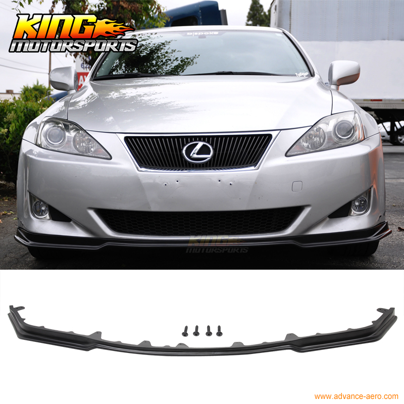 For 06-08 lexus is250 is350 poly urethane jdm front bumper lip spoiler pu body kit us domestic free s