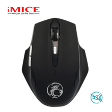 Imice 2,4 ГГц Бесшумная Беспроводная игровая мышь эргономичная мини оптическая USB компьютерная Тихая Кнопка игровая мышь для ПК ноутбука