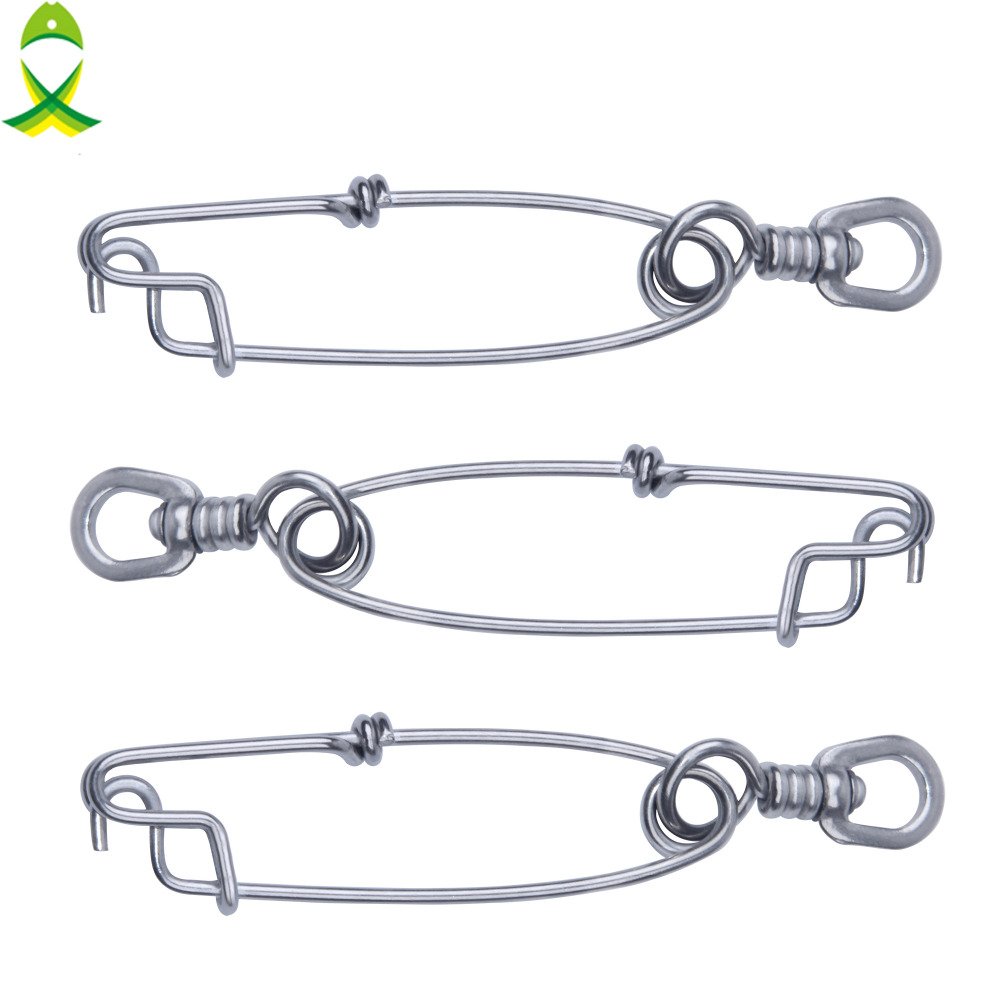 20 Pcs Fishing Clip Snap Long Line Stainless Fishing Connector Sea Fishing