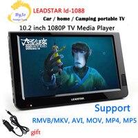LEADSTAR-10.2 inç LED TV HD 1080 P ekran Medya Oynatıcı Taşınabilir TV MINI Araba TV Desteği USB/SD kart/HDMI/VGA/AV Araç şarj hediye