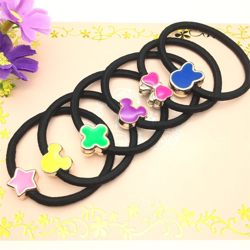 1PCS Colored  Clover Hair Accessories For Women Headband,Elastic Band For Hair For Girls,Hair Band Hair Ornaments For Kids