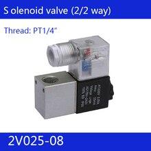 "2V025-08 1/"" 2 позиции 2 порта воздушные электромагнитные клапаны valvula neumatico, valvula pneumatica Пневматический регулирующий клапан"