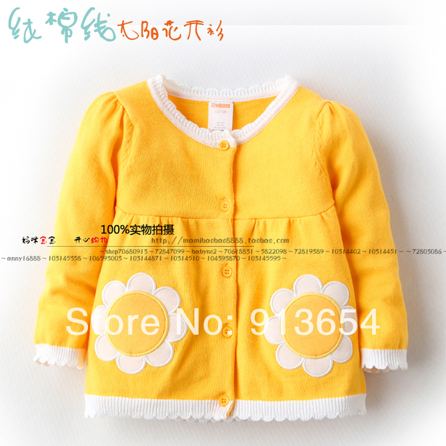 new 2014 spring autumn baby girl clothing single tier children sweater baby girls princess Cardigan sweater kids jackets & coats