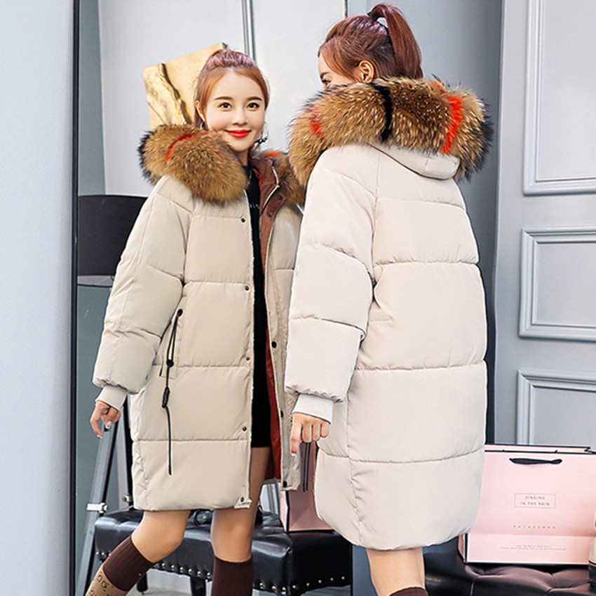 S-2XL Autumn Winter Hoodie   Parkas   Clothes Warm Female Fashion Korean OL Coat Beige Women Casual Cotton Down Jacket 021-1510MC13