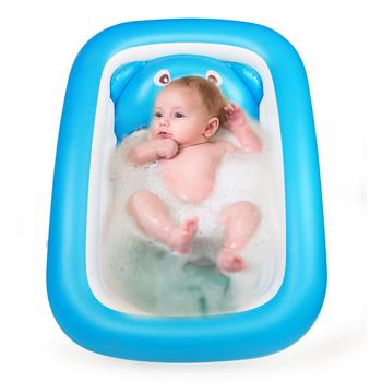 Baby Bathtub Baby Baby Foldable Inflatable Bathtub Large Thickened Bathing Pool Paddling Pool for Sitting and Lying