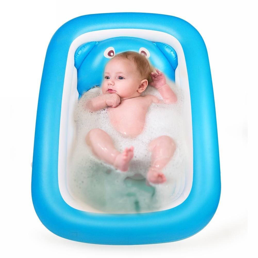 Baignoire bébé bébé baignoire gonflable pliable grande piscine de bain épaissie pataugeoire pour assis et couché