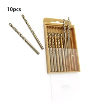 M35 10pcs 1/1.5/2/2.5mm Full Grinding Cobalt Twist Drill Stainless Steel Hole Metal Steel Drill Bit Aluminum Alloy Reaming Punch mid range carbide hole saw metal iron pipe stainless steel aluminum reaming drill 48 100mm