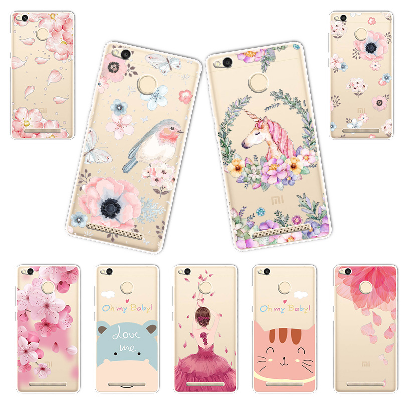 3D Case For Xiaomi Redmi 3S Relief Lace Plant Flower Cute Soft Silicon For Xiaomi Redmi 3S Pro Case Xiomi Redmi 3 S Fundas Coque