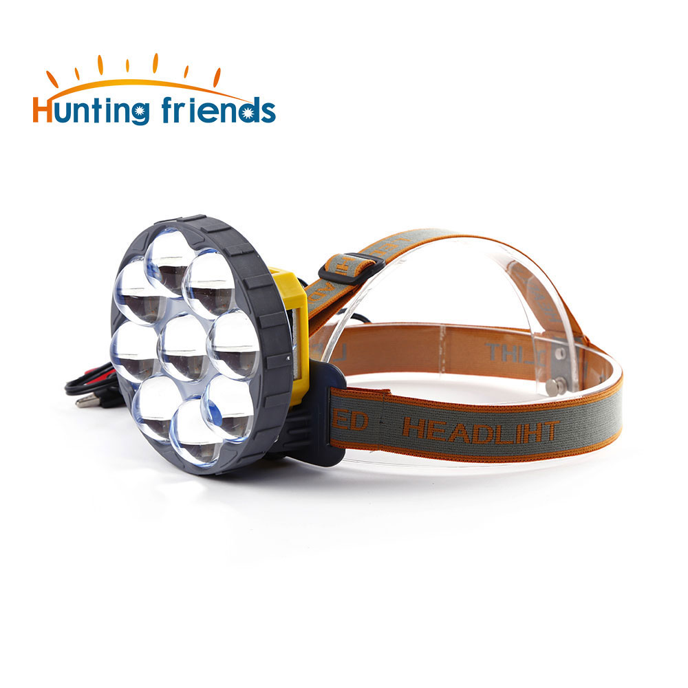 12V 8 LED Headlamp 2 Light Modes Headlight Superbright Spotlight White Yellow Blue light Head Flashlight Torch for Outdoor 12v led light auto headlamp h1 h3 h7 9005 9004 9007 h4 h15 car led headlight bulb 30w high single dual beam white light