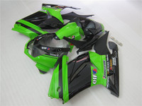 Injection molding fairing kit For Kawasaki ninja 250r 2008 2015 model green black EX250 08 09 10 11 12 fairings set PO22