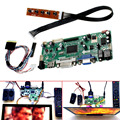 Tablero de Regulador del LCD HDMI DVI VGA Audio PC Kit del Módulo de Pantalla De 15.6 Pulgadas