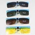 Óculos polarizados Clip sobre Óculos De Sol Das Mulheres Dos Homens Óculos Claros Óculos de Sol Óculos Óculos Óculos de Visão Noturna Amarelo