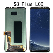 AMOLED untuk Samsung Galaxy S8 G950 LCD Tampilan Sentuh Layar Digitizer Assembly untuk Samsung S8 Plus G955 G955F LCD dengan bingkai