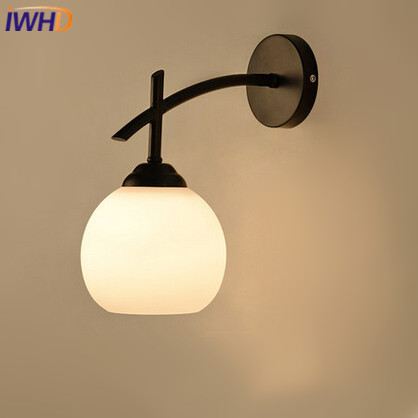 ⑧Loft Estilo Vintage Lámparas de pared Edison luz espejo apliques ...
