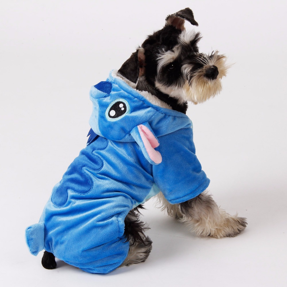 Cute Puzzle Cartoon Puppies Clothing Pet Clothing Animals Changing Cothes Puppy Cat Plush Dog Hoodie Cotton Trolley Dog XS-XL