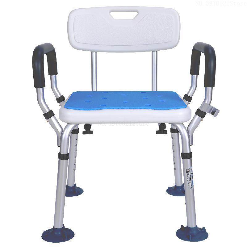 Fine Aluminum Alloy Shower Chair Bathroom Chairs For Handicap Disabled Elderly Height Adjustable Medical Bath Seat Foot Stool Fine Craftsmanship