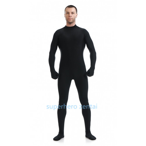 free shipping Black Zentai Suit Lycra Spandex Catsuit leotard performance costume Halloween Party Costumes adult/kids/Custom