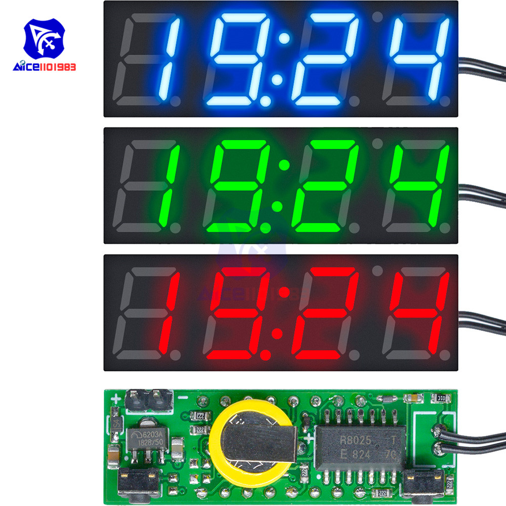 3 In 1 DS3231SN Digital LED Time Clock Temperature Voltage Module Mini Voltmeter Thermometer For Car Arduino Electronic DIY