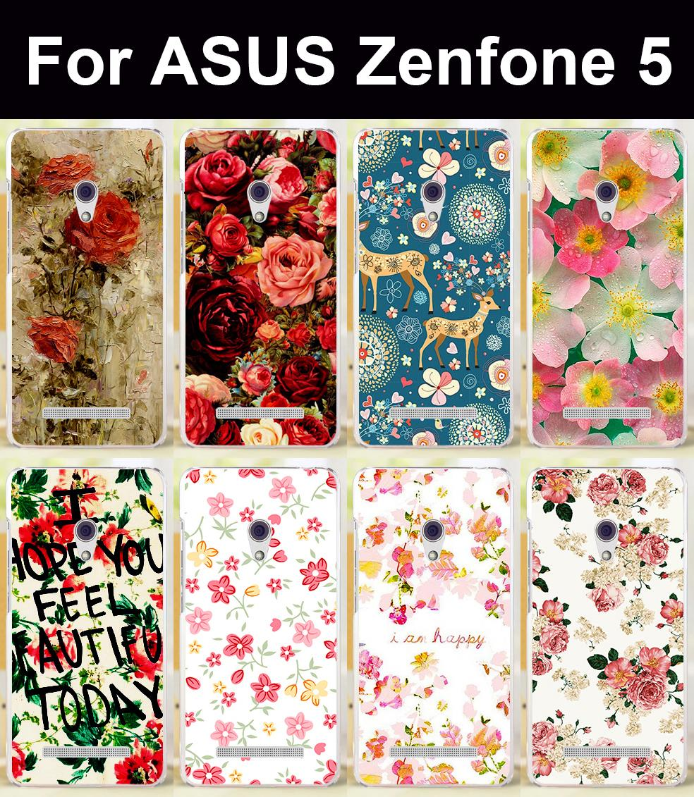 AKABEILA Brilliant Rose Peony Flowers Covers For Asus Zenfone5 Cases ZenFone 5 ASUS_T00J (A501CG) A500CG A500KL Shield Case Skin