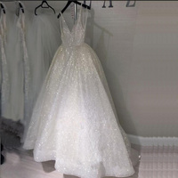 Белое блестящее фатиновое платье для выпускного вечера с пайетками, с бретельками и v образным вырезом, с открытой спиной, вечернее платье д
