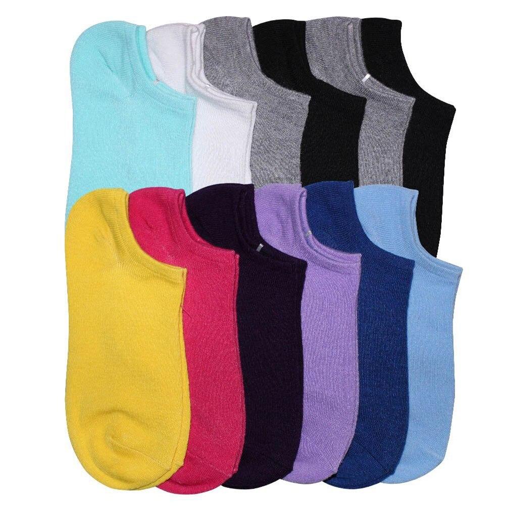 12 Paar Womens Dagelijks Lage Cut Comfort No Show Causale Sokken Suikerspin Sokken Online Korting